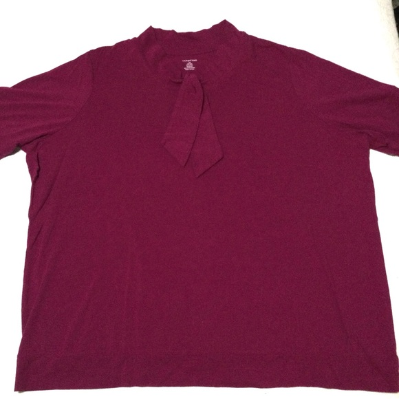 Lands End Berry Colored Top with Tie